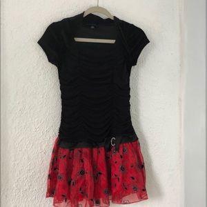 Amy's Closet velvet black & red dress